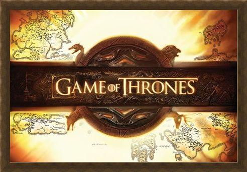 Framed Framed Game of Thrones - Title Card