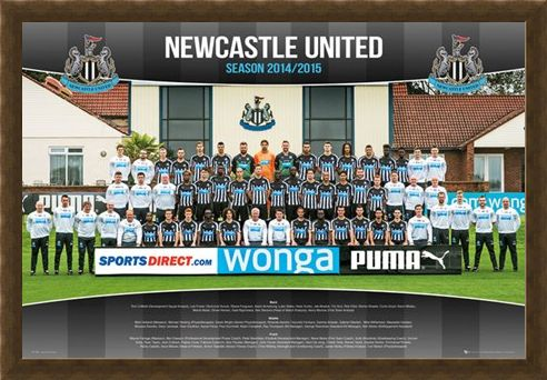 Framed Framed Team Photo - Newcastle United Football Club 2014/15