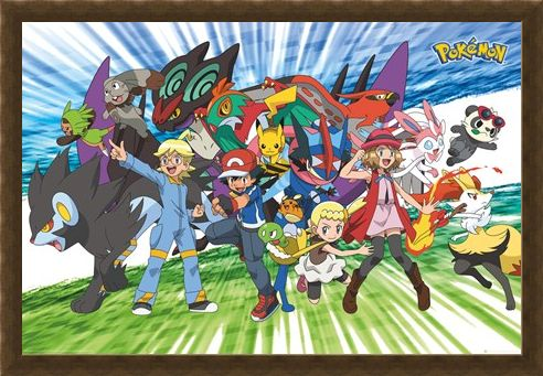 Framed Framed Travelling Party - Pokémon