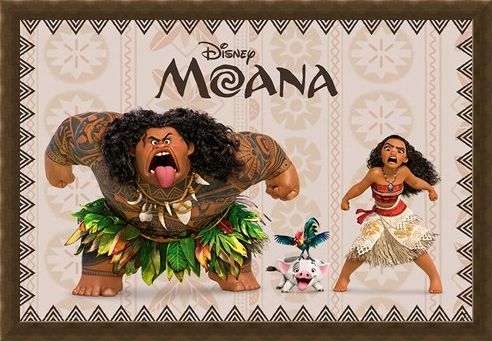 Framed Framed Moana and Maui - Moana