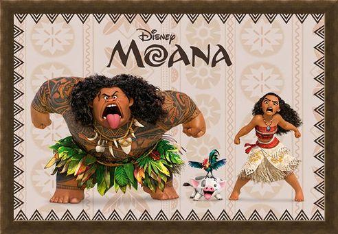 Framed Framed Moana and Maui - Moana