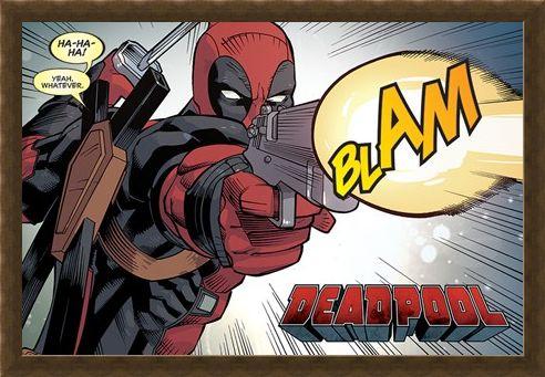 Framed Framed Blam - Deadpool