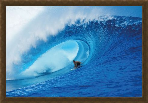 Framed Framed Riding The Wave - A Deep Blue View