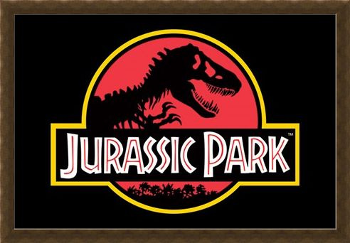Framed Framed Movie Logo - Jurassic Park