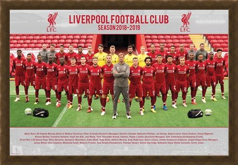 Framed Framed Team Photo 18-19 - Liverpool