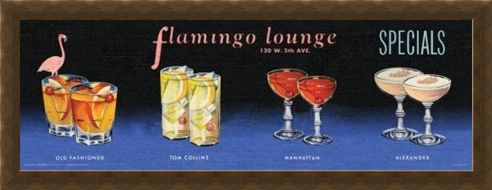 Framed Framed Flamingo Lounge - Cocktails All Around!