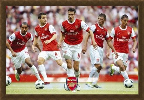 Framed Framed The Gunners Star Players - Arsenal Football Club