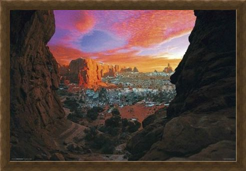 Framed Framed Utah Canyon - Scenic Photography