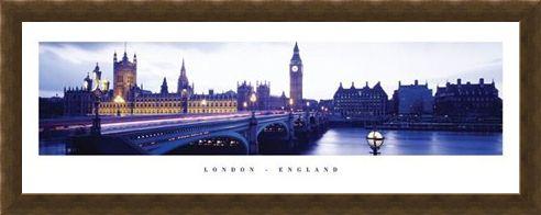 Framed Framed Dusk over Westminster - London