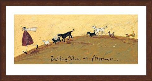 Framed Framed Walking Down To Happiness - Sam Toft