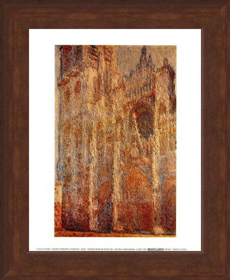 Framed Framed Rouen Cathedral At Midday - Claude Monet