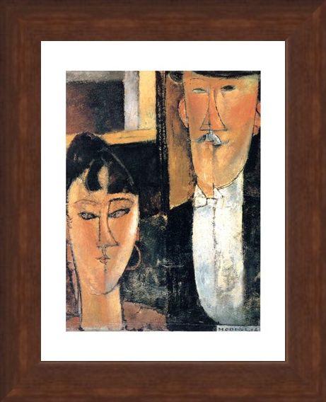 Framed Framed Gli Sposi - Amedeo Modigliani