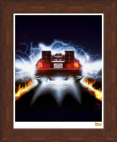 Framed Framed Delorean Fire - Back To The Future