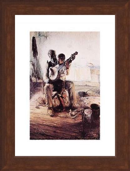 Framed Framed Banjo Lesson - Henry Ossawa Tanner