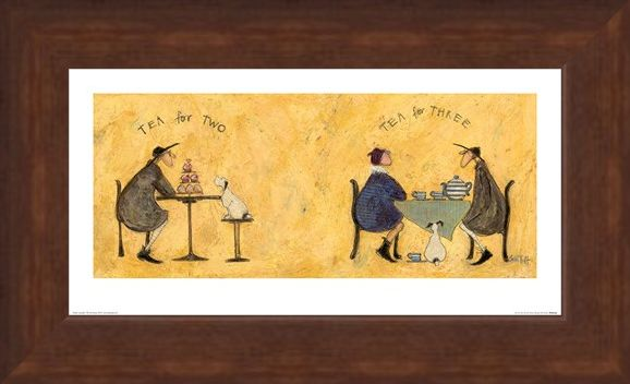Framed Framed Tea for Two, Tea for Three - Sam Toft