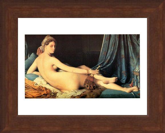 Framed Framed La Grande Odalisca - J. A. Dominique Ingres