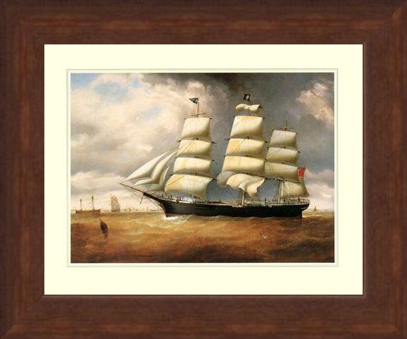 Framed Framed The Ship 'Duncairn' - Sailing the High Seas