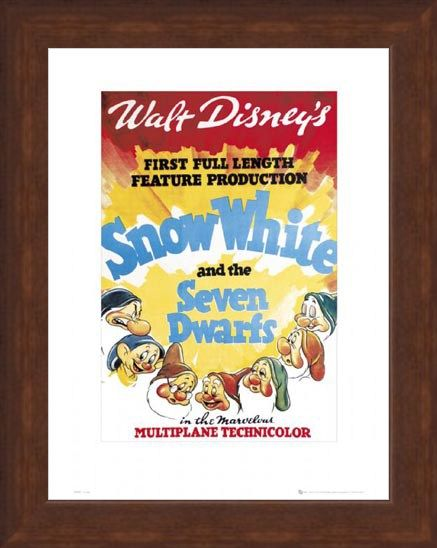 Framed Framed Snow White Original Movie Score - Walt Disney's Snow White and The Seven Dwarves