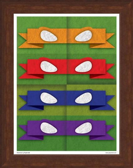 Framed Framed Minimal Movies: Teenage Mutant Ninja Turtles - Eye Masks