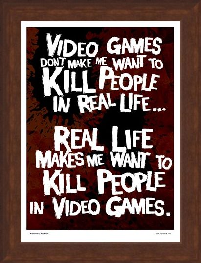 Framed Framed Kill People In Video Games - Get It Right