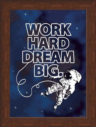 Framed Framed Work Hard - Dream Big