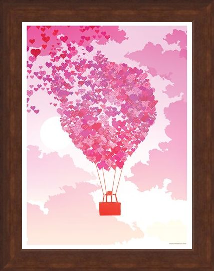 Framed Framed A Balloon Full Of Love - Love Is In The Air