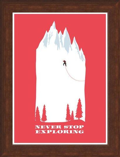 Framed Framed Make Everyday An Adventure - Never Stop Exploring