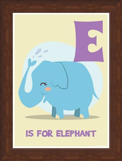Framed Framed E...is for Elephant - Funny Alphabet