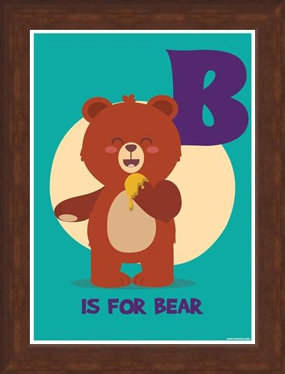 Framed Framed B...Is For Bear - Animal Alphabet