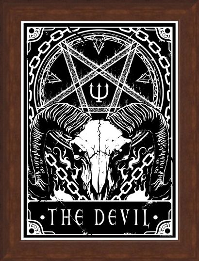 Framed Framed The Devil - Deadly Tarot
