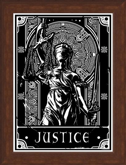 Framed Framed Justice - Deadly Tarot