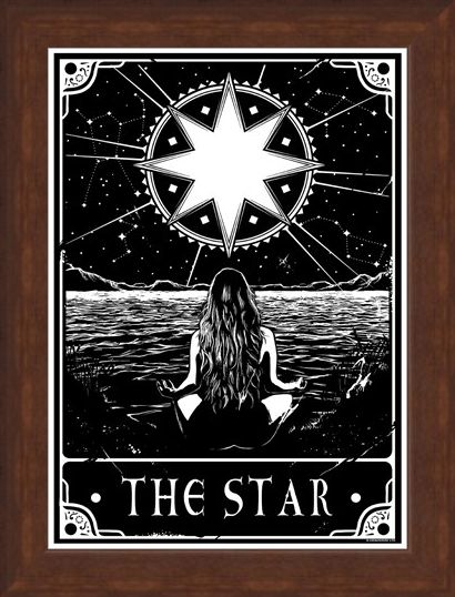 Framed Framed The Star - Deadly Tarot