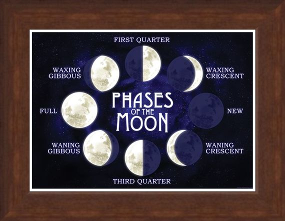 Framed Framed Moon Phases - Late Night Lunar