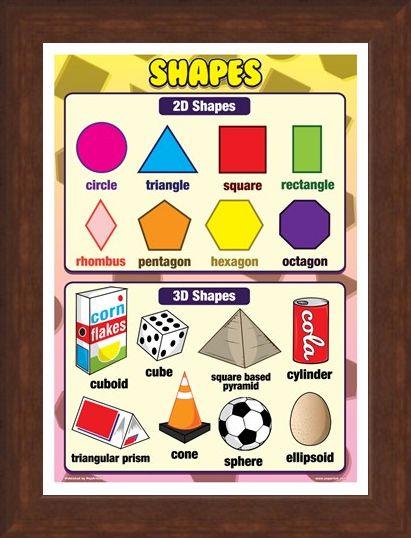 Framed Framed 2D & 3D Shapes - Shapes for Kids