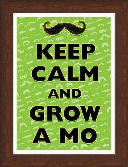 Framed Framed Keep Calm & Grow A Mo - Keep Calm & Carry On