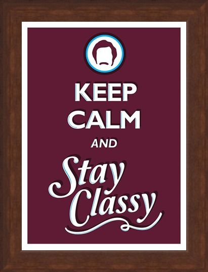 Framed Framed Keep Calm & Stay Classy - Keep Calm & Carry On