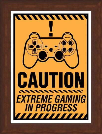 Framed Framed Caution! - Extreme Gaming In Progress