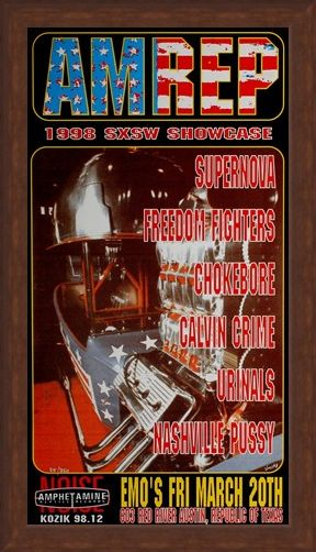 Framed Framed AM REP 1998 SXSW Showcase - Frank Kozik