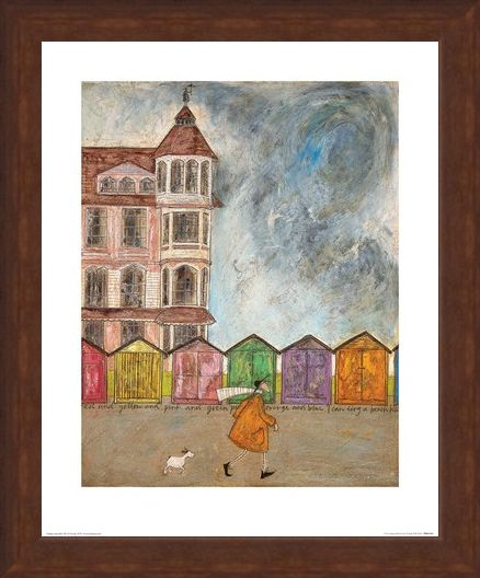 Framed Framed I Can Sing a Beach Hut - Sam Toft
