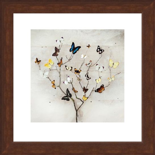 Framed Framed Tree of Butterflies - Ian Winstanley