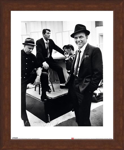 Framed Framed Dean Martin, Sammy Davis Jr. and Frank Sinatra - Time Life