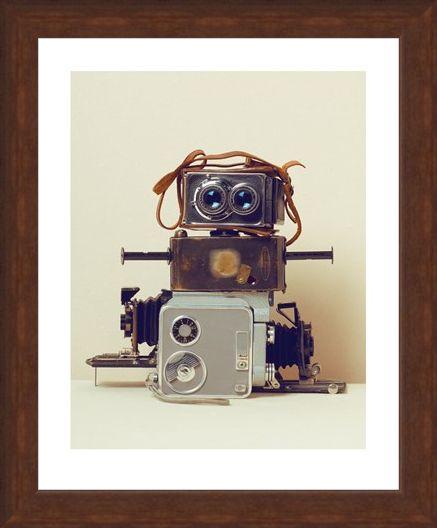 Framed Framed Robot Hair - Ian Winstanley