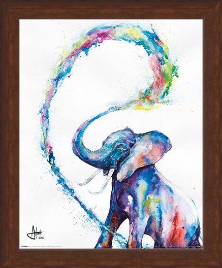 Framed Framed Elephant - Marc Allante