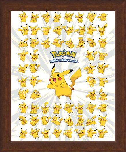 Framed Framed Pikachu - Pokemon