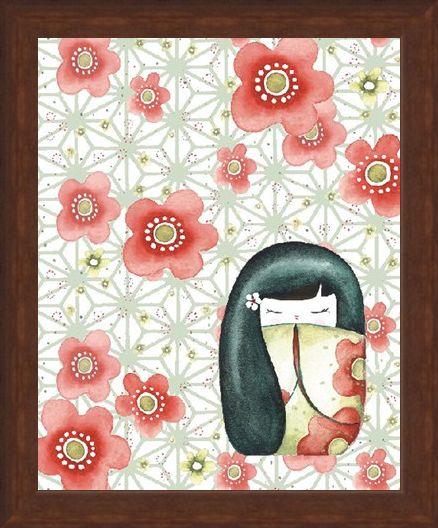 Framed Framed Hanako - Sam Bamford - Mizuki Dolls