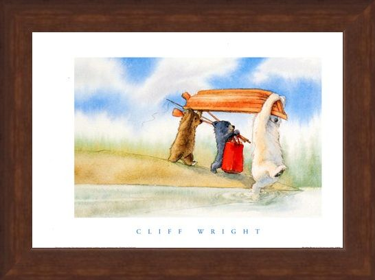 Framed Framed Boating Bears - Cliff Wright