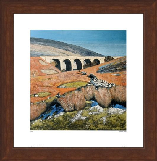 Framed Framed Yorkshire Landscape with Viaduct - Lydia Bauman
