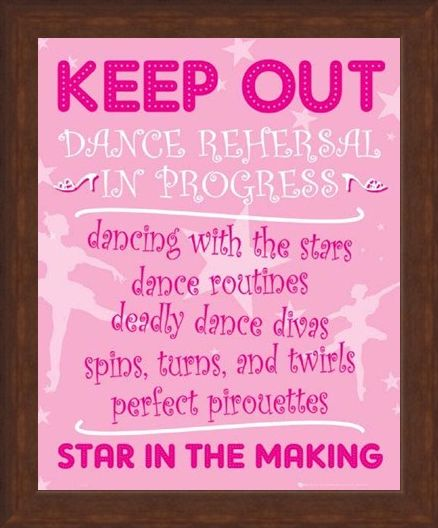 Framed Framed Star In The Making - Keep Out