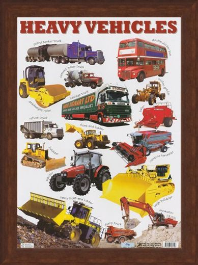 Framed Framed Heavy Vehicles - Images of Transportation