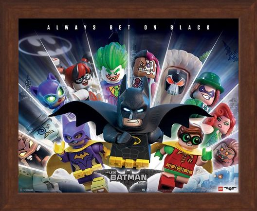 Framed Framed Always Bet On Black - Lego Batman